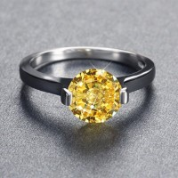 Ring CZ Yellow Luxury