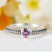 Ring Heart Purple