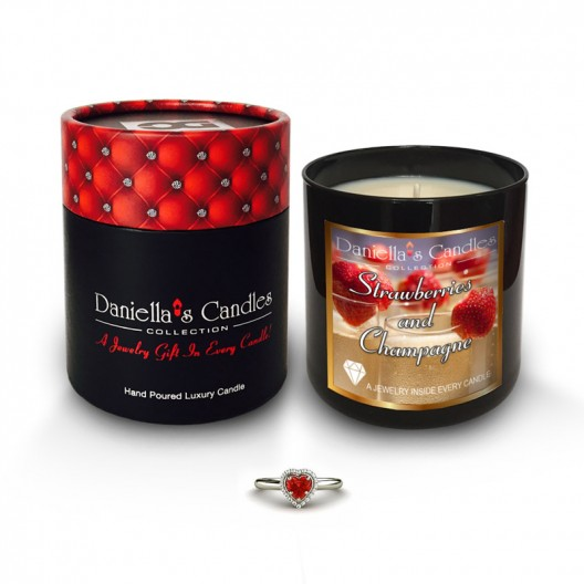 Strawberries and Champagne Jewelry Candle