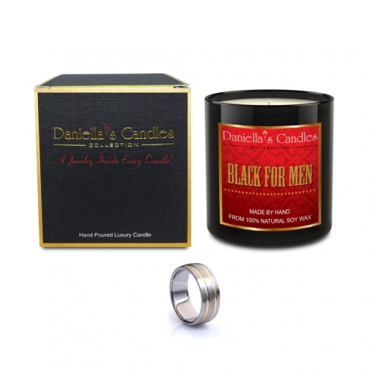 Black For Men Type Men's Jewelry Candle