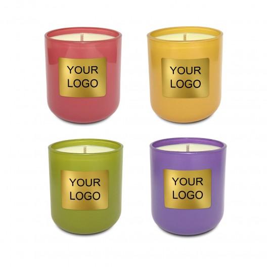 8.5 oz. Colored Private Label Glass Candle