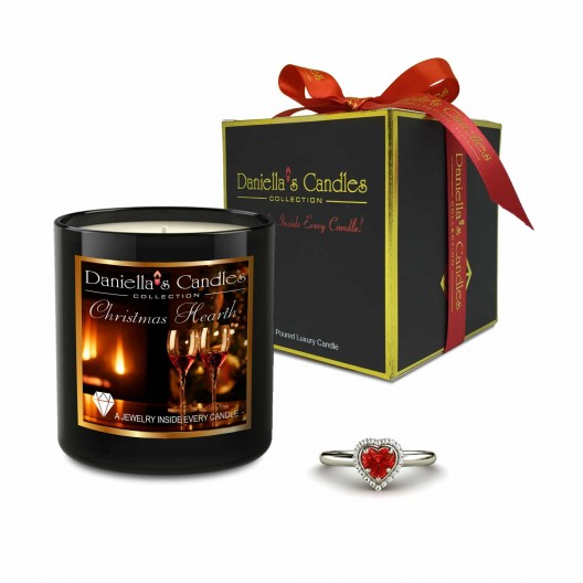 Christmas Hearth Jewelry Candle