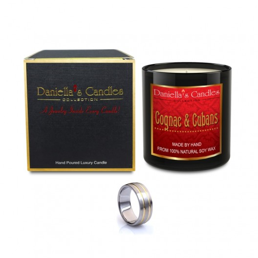 Cognac & Cubans Men's Jewelry Candle