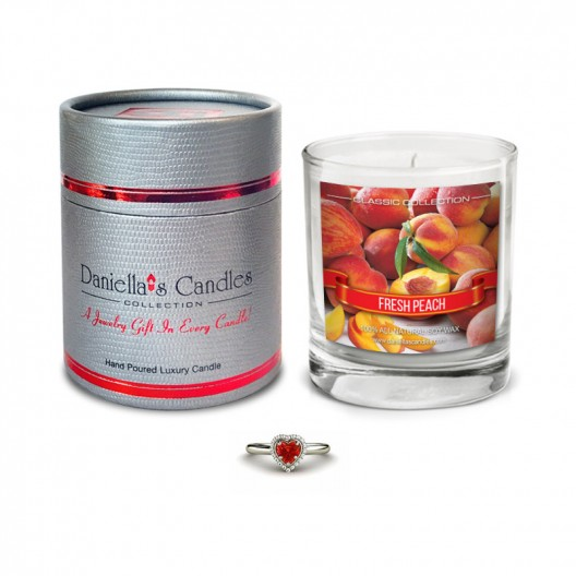 Peach Jewelry Candle