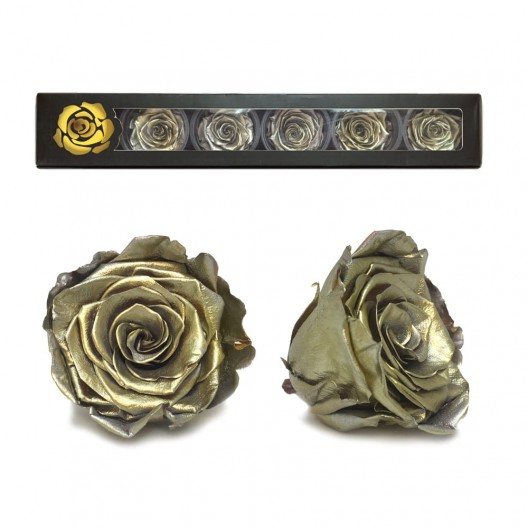 Gold Rose Heads Large - 6 per box