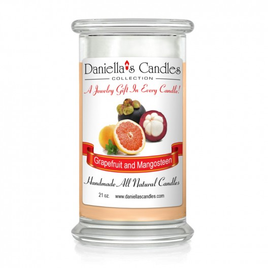 Grapefruit and Mangosteen Jewelry Candle