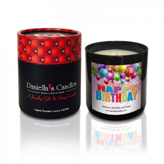 Happy Birthday Jewelry Candle