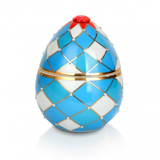 Harlequin Egg Candle