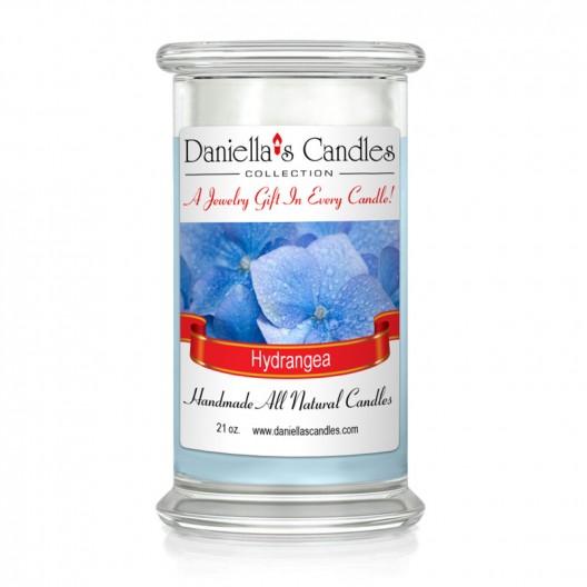 Hydrangea Jewelry Candle