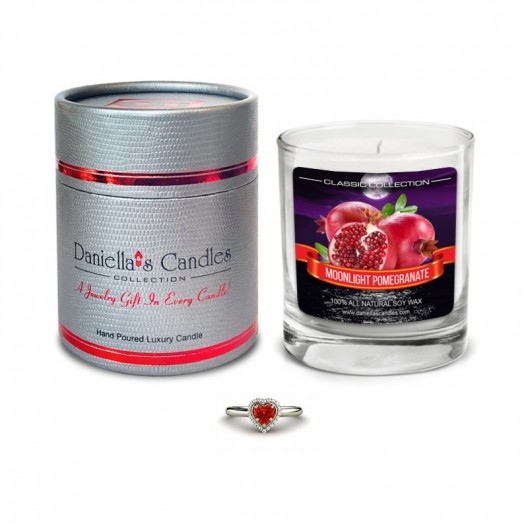 Moonlight Pomegranate Jewelry Candle