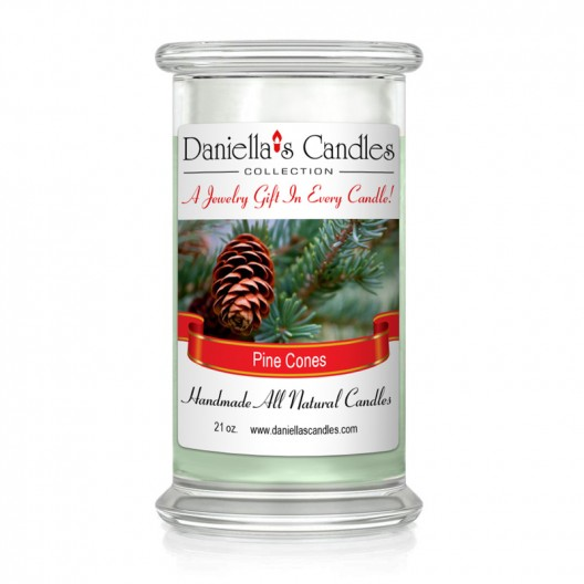 Pine Cones Jewelry Candle