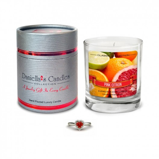 Pink Citron Jewelry Candle