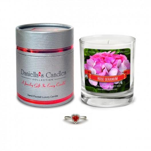 Rose Geranium Jewelry Candle