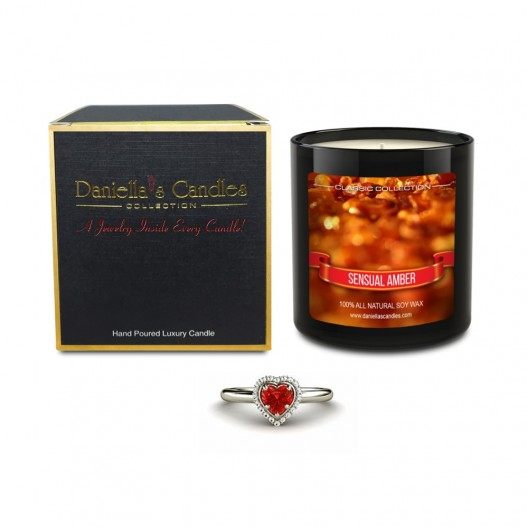 Sensual Amber Jewelry Candle