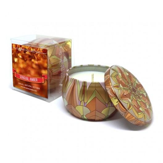 Sensual Amber Travel Tin Candle